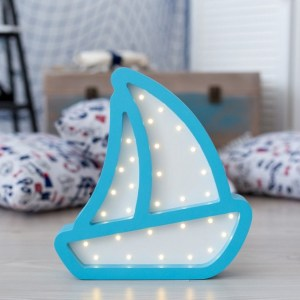 With a charming design, the Boat Wooden Night Light provides a reassuring glow for your little one, making it perfect for a nursery or kids room nightlight, or an interesting addition to any other space.