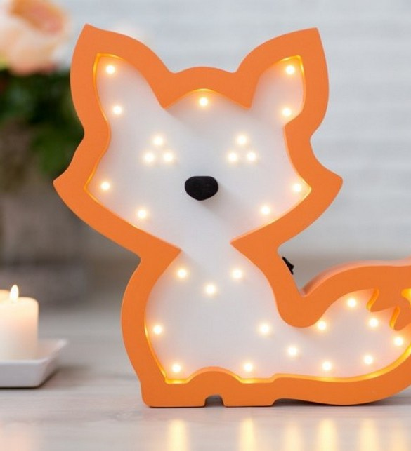 With a charming design, the Fox Wooden Night Light provides a reassuring glow for your little one, making it perfect for a nursery or kids room nightlight, or an interesting addition to any other space.