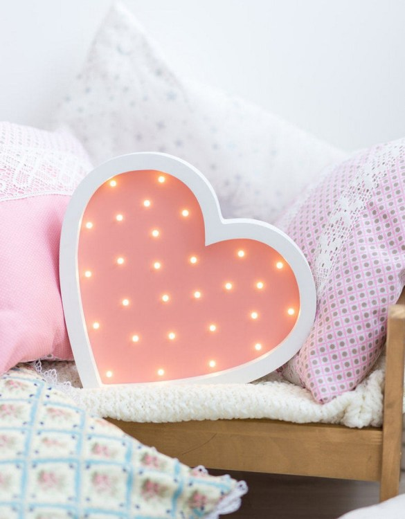 With a charming design, the Heart Wooden Night Light provides a reassuring glow for your little one, making it perfect for a nursery or kids room nightlight, or an interesting addition to any other space.