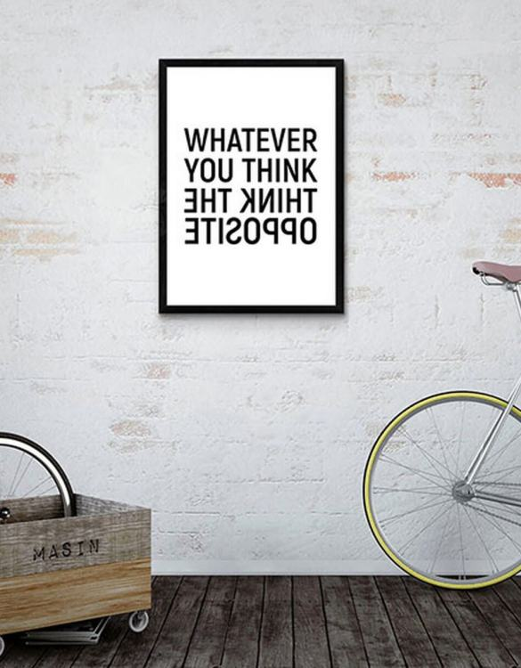 Perfect for any room in the home, the Home Wall Poster - Think The Opposite is a great piece of daily inspiration for your walls.