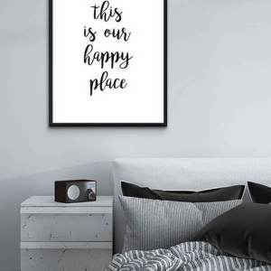 Perfect for any room in the home, the Home Wall Poster - This Is Our Happy Place is a great piece of daily inspiration for your walls.
