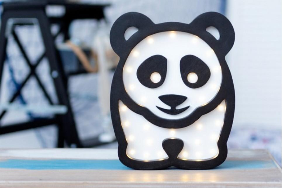 Panda Wooden Night Light