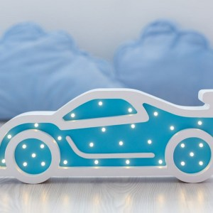 With a charming design, the Sportcar Wooden Night Light provides a reassuring glow for your little one, making it perfect for a nursery or kids room nightlight, or an interesting addition to any other space.