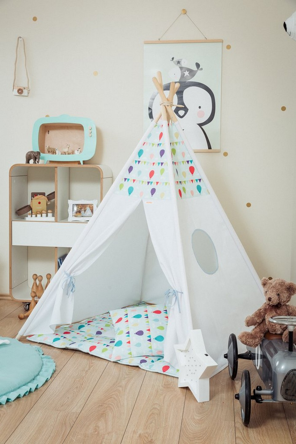 Balloons Children's Teepee Set