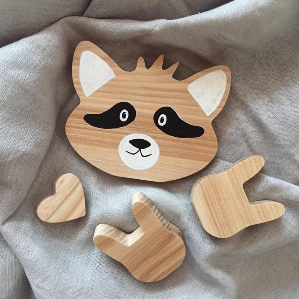 Raccoon Wood Toy