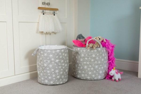 Grey Star Children's Laundry Basket_2