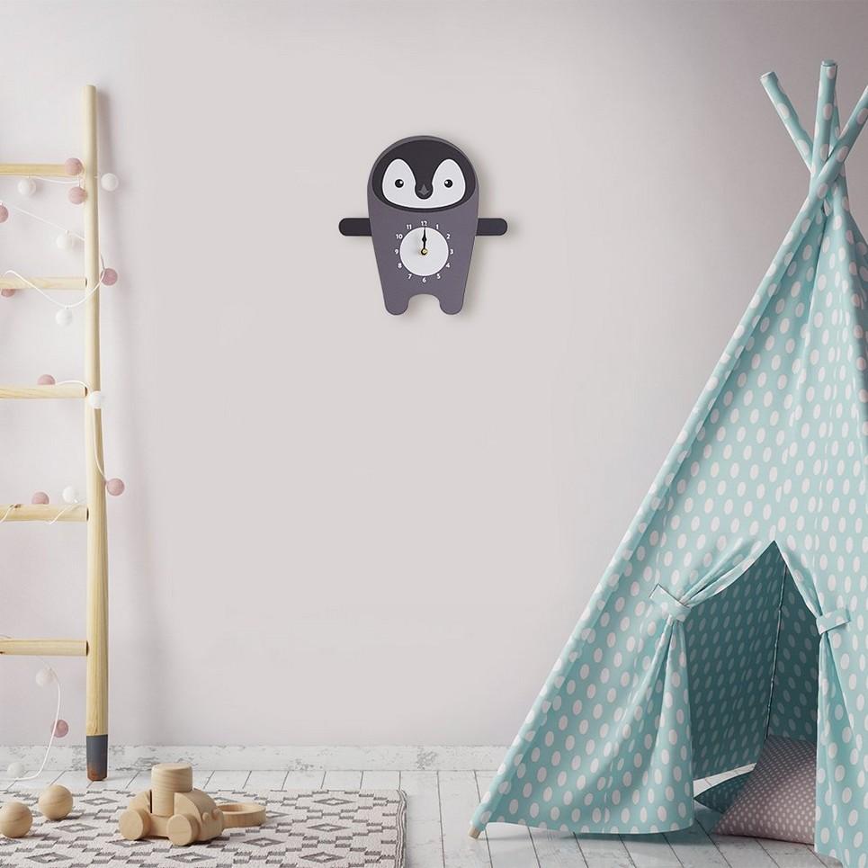 Polly The Penguin Wall Clock