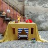 Perfect for any gathering whether it be an early morning breakfast, casual brunch or special occasion, the Celebration in the Dunes Tablecloth Playhouse will seduce the youngest and stimulate storytelling and adventure.
