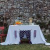 Perfect for any gathering whether it be an early morning breakfast, casual brunch or special occasion, the Funny Peas Tablecloth Playhouse will seduce the youngest and stimulate storytelling and adventure.