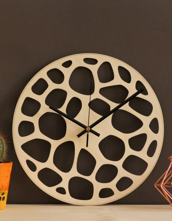 With a sophisticated and functional look, the Abstract Wooden Wall Clock will add an element of starry spirit to any room.