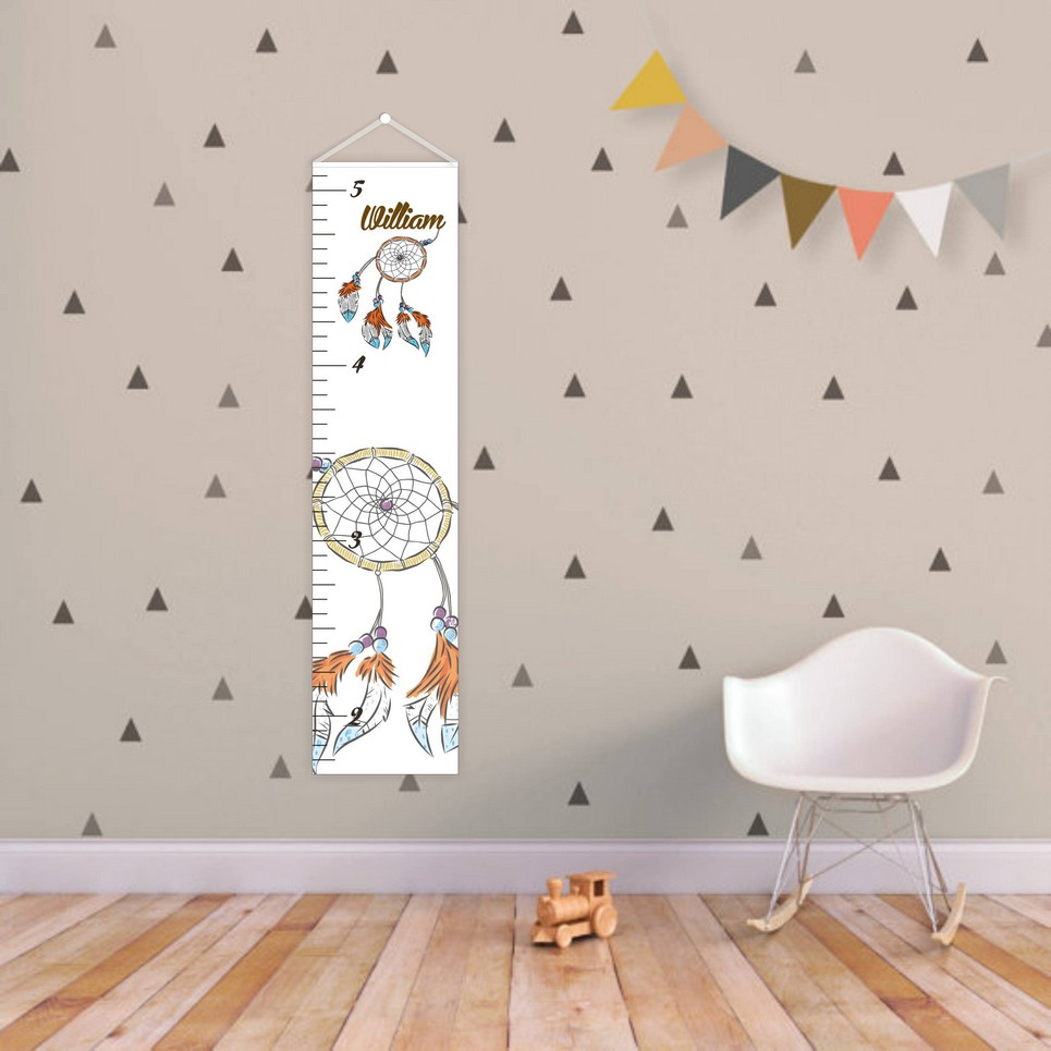 Dreamcatcher Personalised Baby Growth Chart