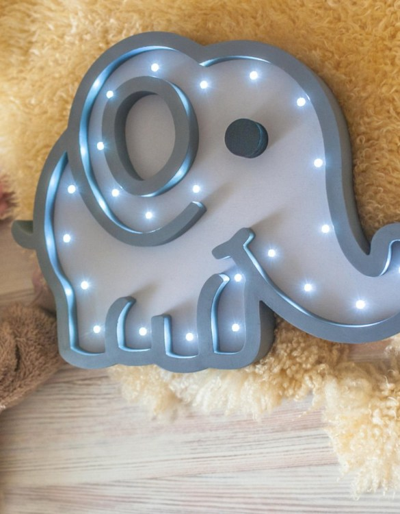 Perfect for setting a calm moon in your kid's bedroom, the Elephant Decorative Night Light gives a soft glow when turned on.