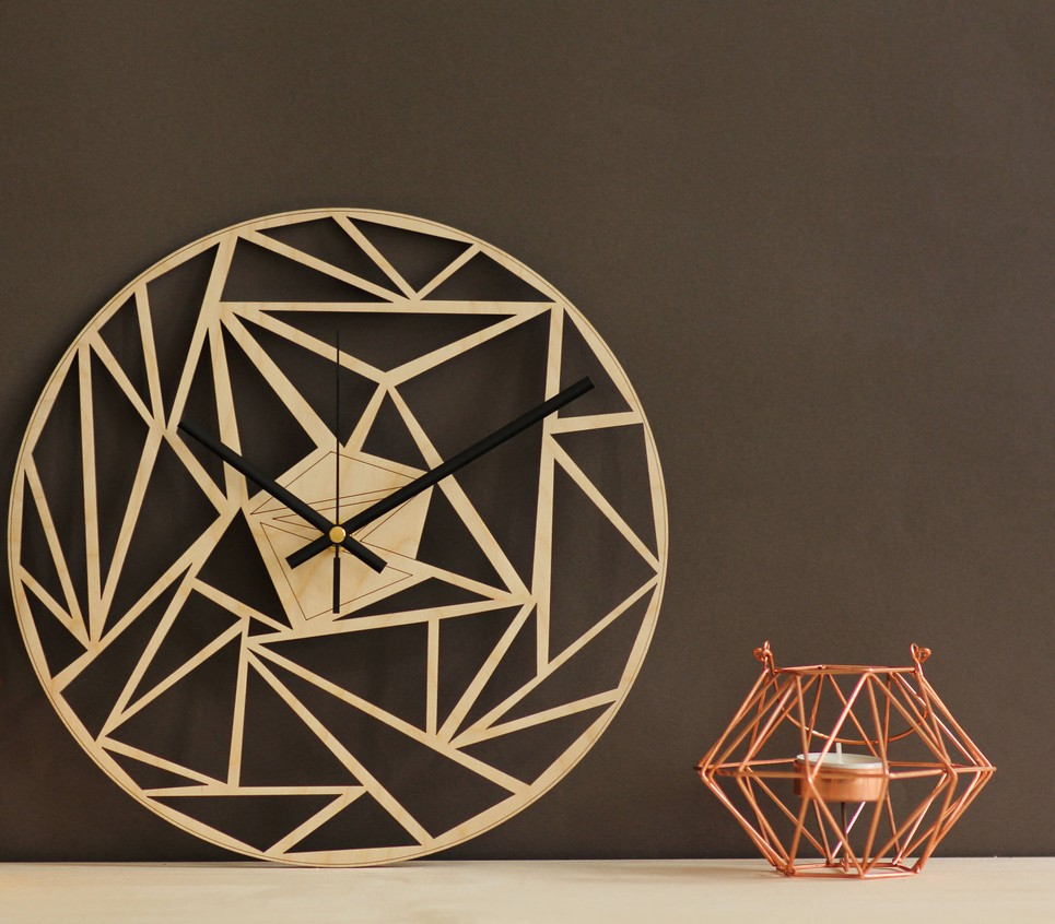 Geometric Art Wooden Wall Clock