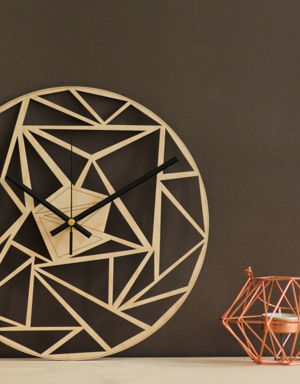 With a sophisticated and functional look, the Geometric Wooden Wall Clock will add an element of starry spirit to any room.