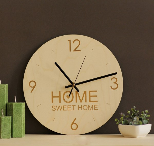 Home Sweet Home – Wooden Wall Clock