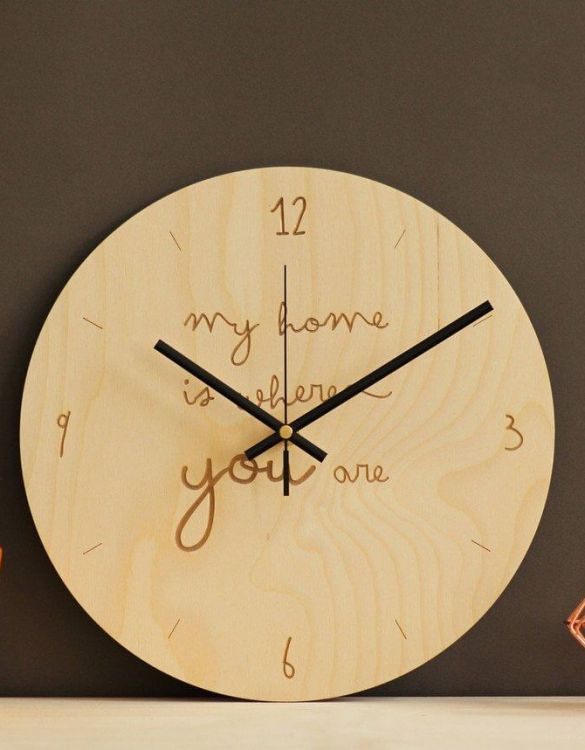 With a sophisticated and functional look, the My home is where you are - Wooden Wall Clock will add an element of starry spirit to any room.