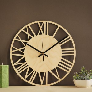 With a sophisticated and functional look, the Roman Wooden Wall Clock will add an element of starry spirit to any room.