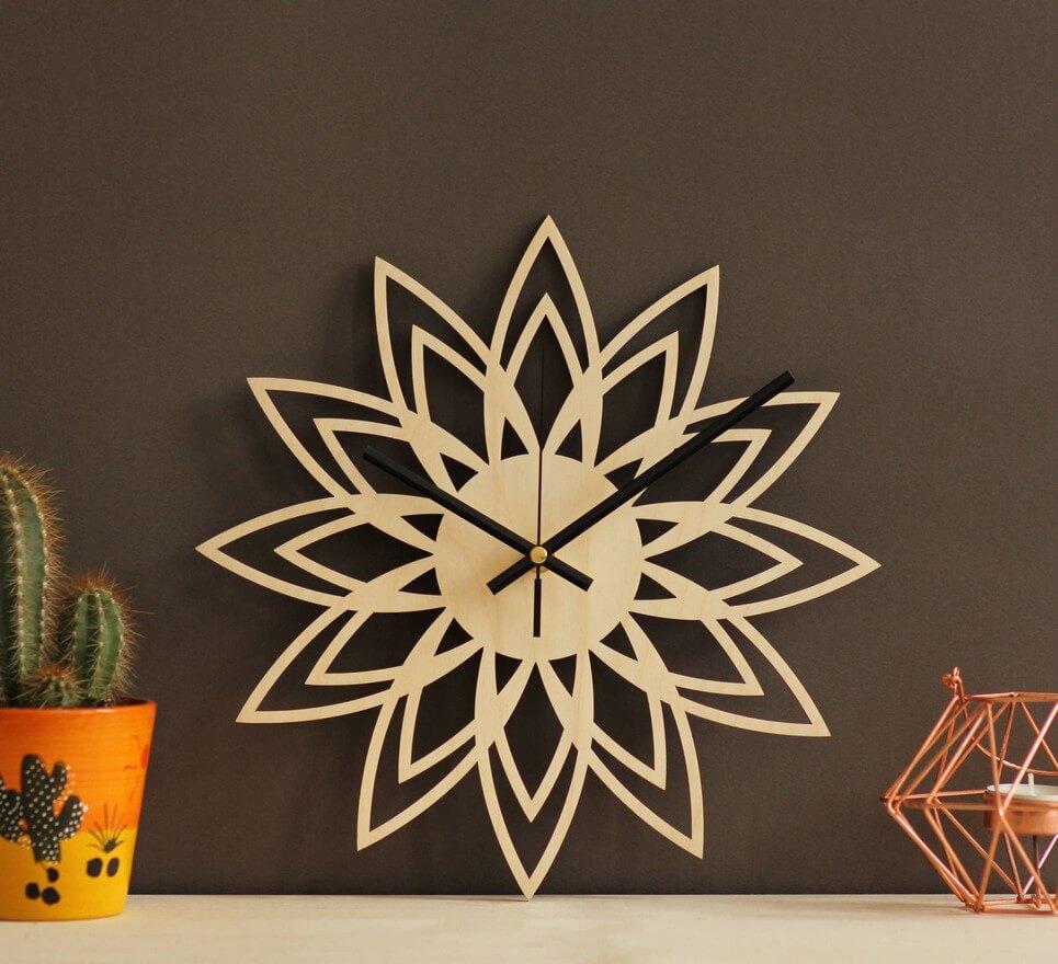 Star Wooden Wall Clock