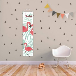 A perfect way to keep track of your little one's growth, the Tropical Personalised Baby Growth Chart will brighten up any child's bedroom as well as provide a fun way to measure height.