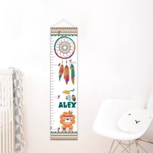 A perfect way to keep track of your little one's growth, the Wild Dreamcatcher Personalised Baby Growth Chart will brighten up any child's bedroom as well as provide a fun way to measure height.