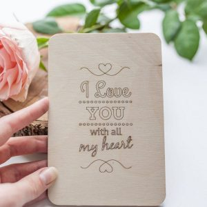 A beautiful valentines card to let a special someone know how you feel, the 'I Love You With All My Heart' Valentine's Wood Card is a beautiful keepsake for this Valentine's Day.