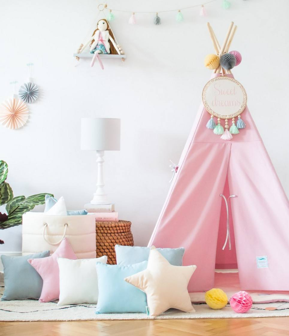 Classic Pink Children's Teepee