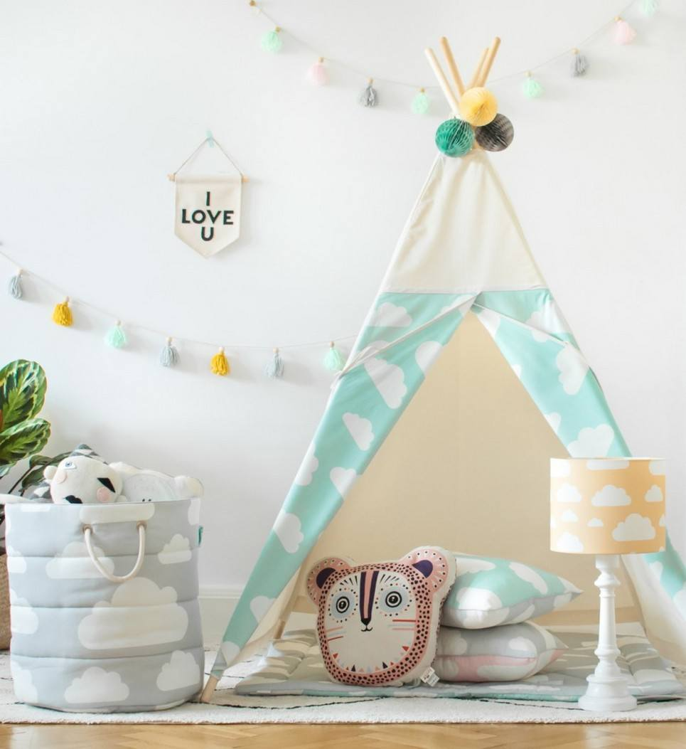 Mint Clouds Children's Teepee – 3