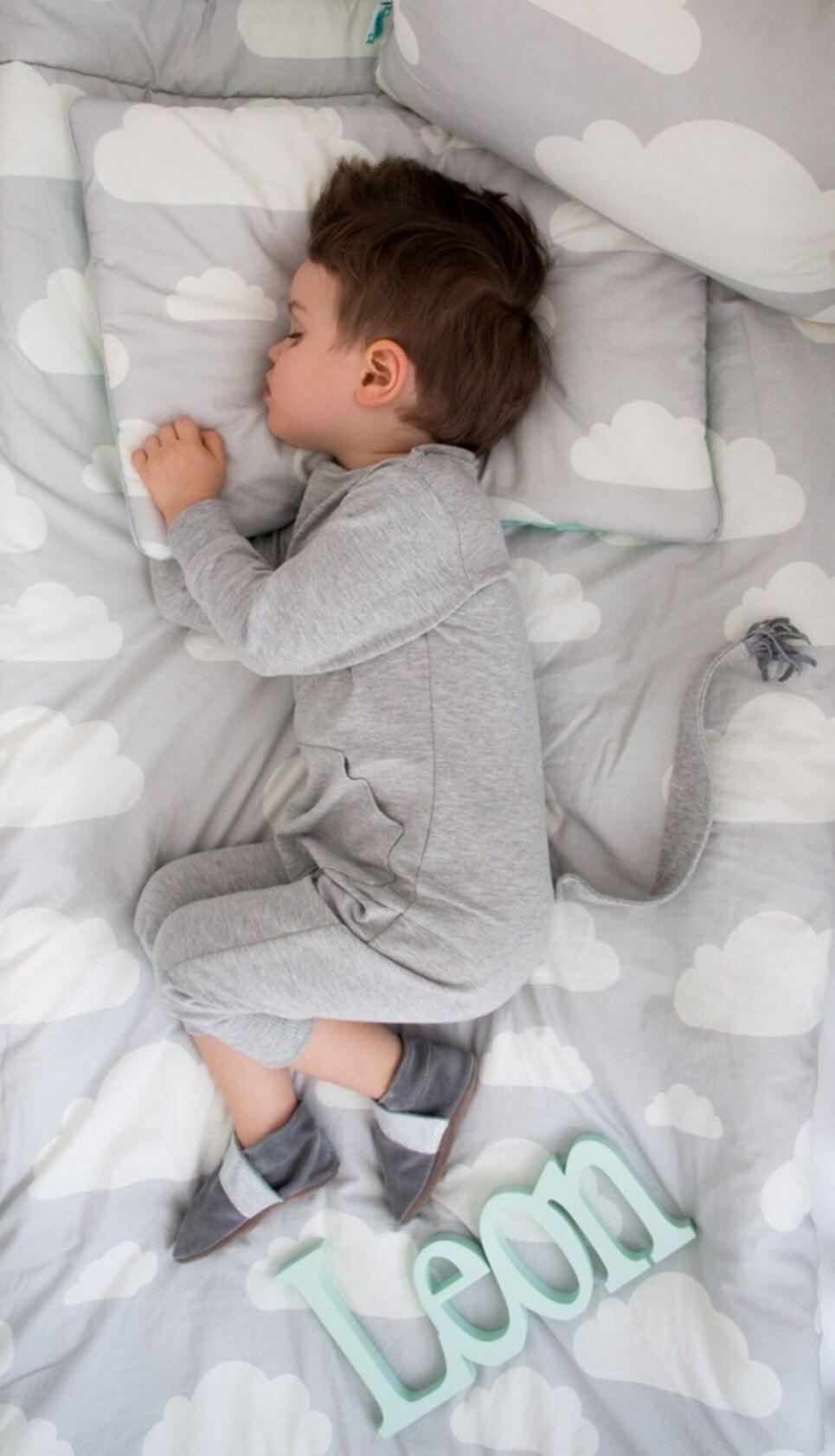 Pink & Grey Clouds Children's Bedding Set – 1