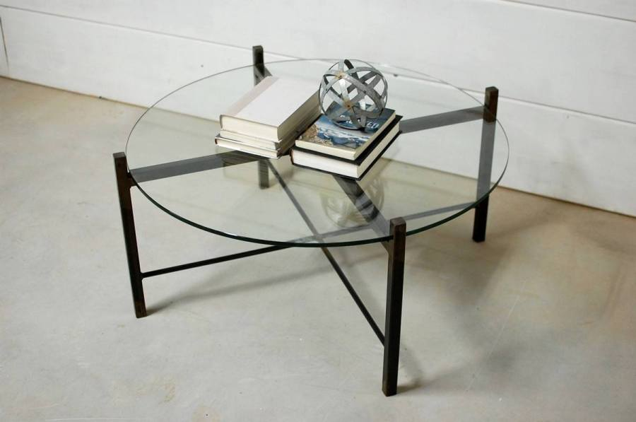 fabulous 1312 tea table living room furniture tempered glass | Modern Coffee Tables With Round Glass Tops And Timeless ...