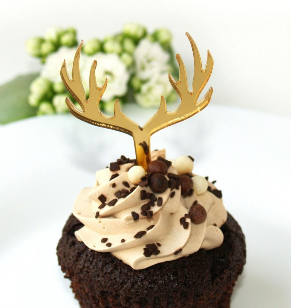 Deer Gold Cupcake Topper – 3