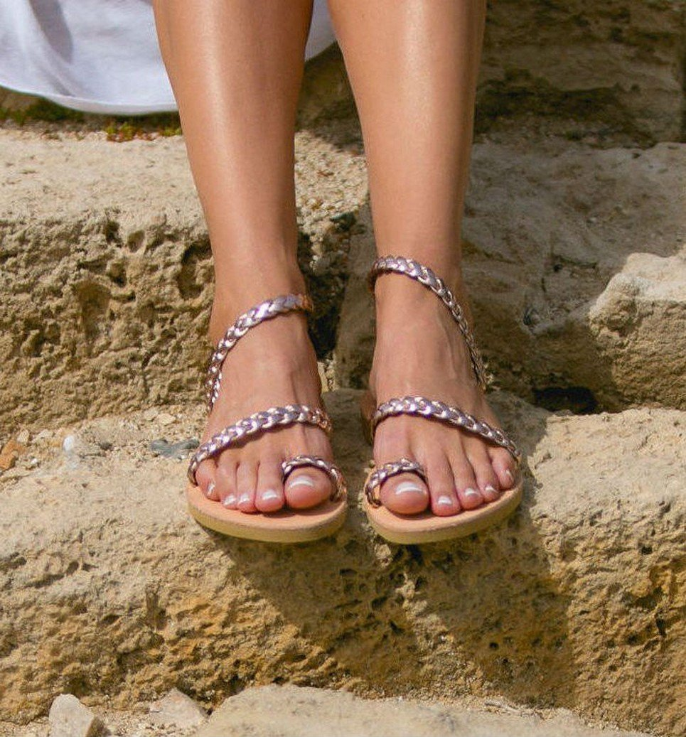 Alcestis Greek Leather Sandal – 4