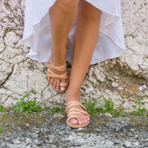 Just what every summer wardrobe needs, the Paros Natural Brown Greek Leather Sandal is every woman's dream pair, super comfy and elegant, and easily combined with any outfit.