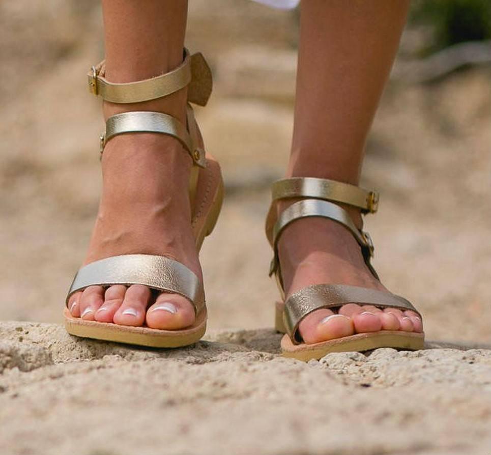 Urania Greek Leather Sandal – 4