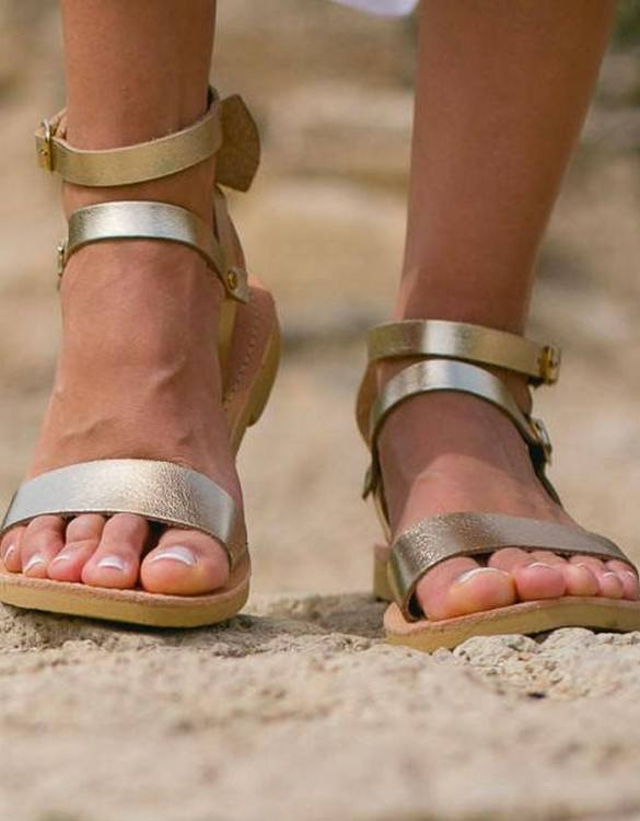 Just what every summer wardrobe needs, the Urania Greek Leather Sandal is every woman's dream pair, super comfy and elegant, and easily combined with any outfit.