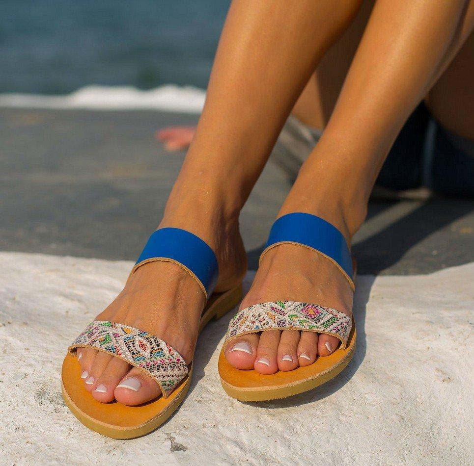 Xanthe Boho Greek Leather Sandal – 5