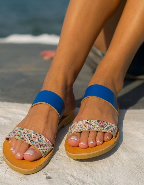 Just what every summer wardrobe needs, the Xanthe Boho Greek Leather Sandal is every woman's dream pair, super comfy and elegant, and easily combined with any outfit.