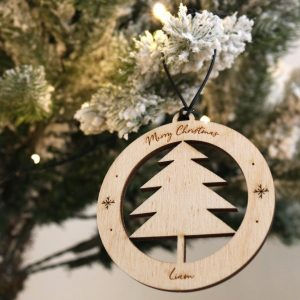 A family treasure to be displayed year after year, the Christmas Tree Bauble makes a thoughtful gift and adds a personal touch to any Christmas tree to celebrate Baby's First Christmas.