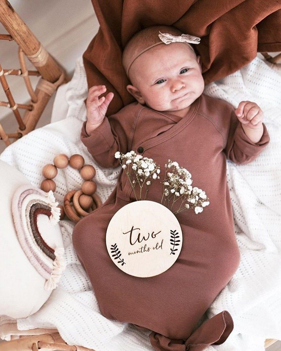 Individual Baby Milestone Wooden Plaque