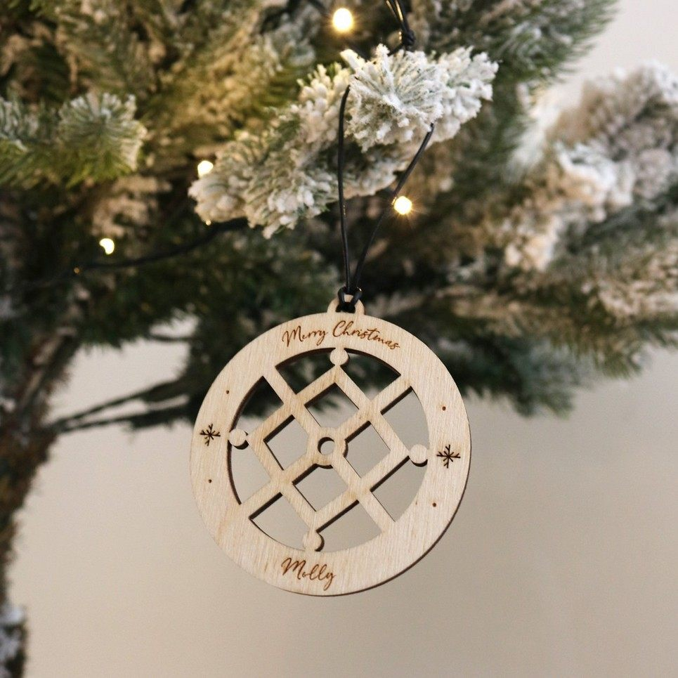 Snow Crystal Christmas Bauble