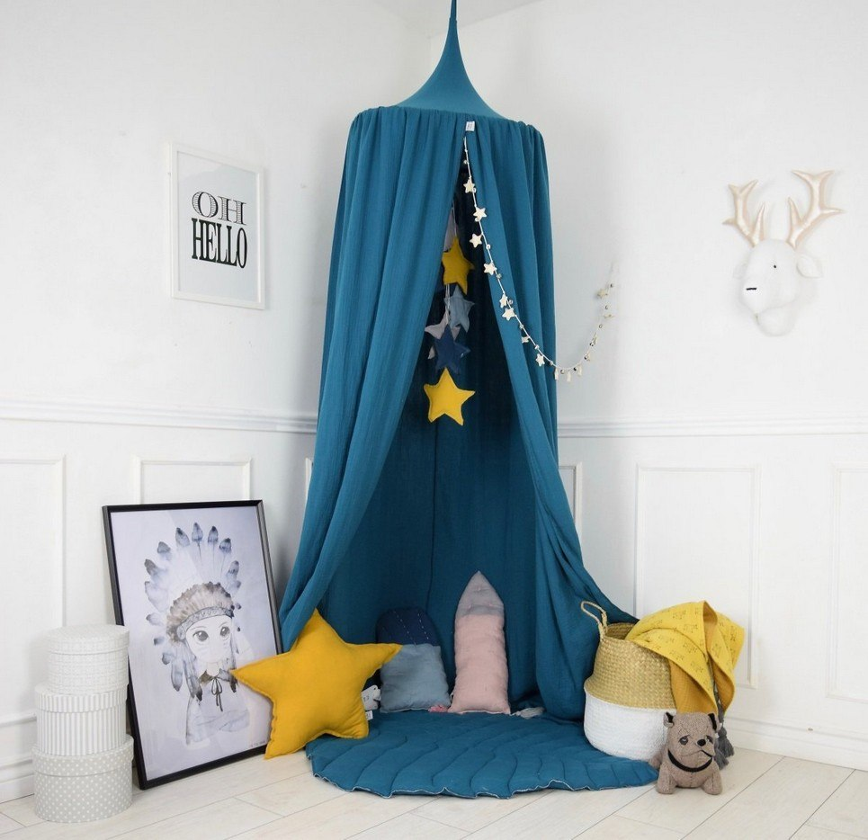 Baldachin Petrol Turquoise Children's Bed Canopy
