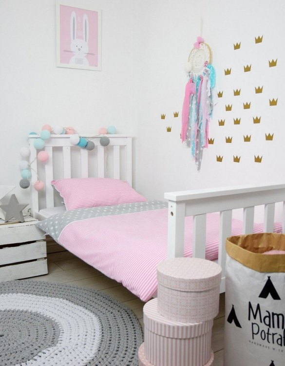 Add fun and style to your little one's bedroom with the Pink Candy Baby Crib Bedding Set. This charming children's bedding set is a great choice for a contemporary themed nursery or children's room.