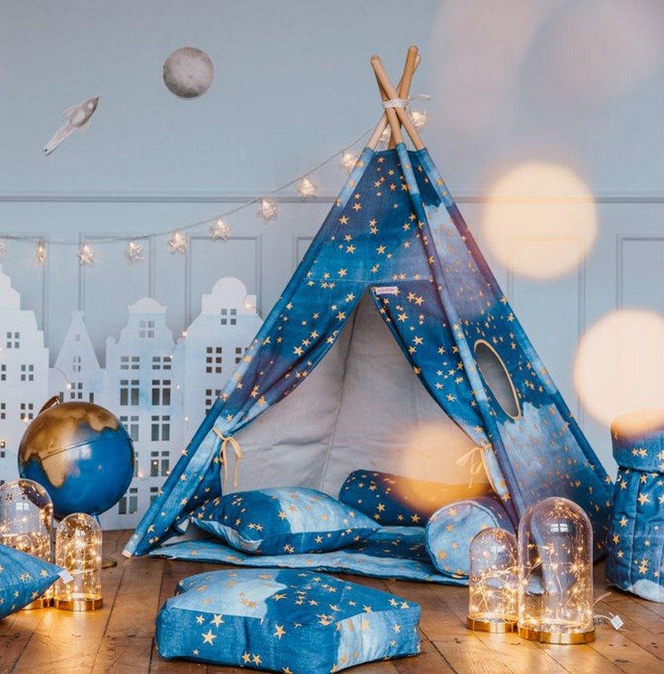 Gold Stars Children's Teepee Set – 3