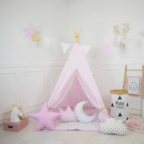Golden Stars Children's Teepee Tent
