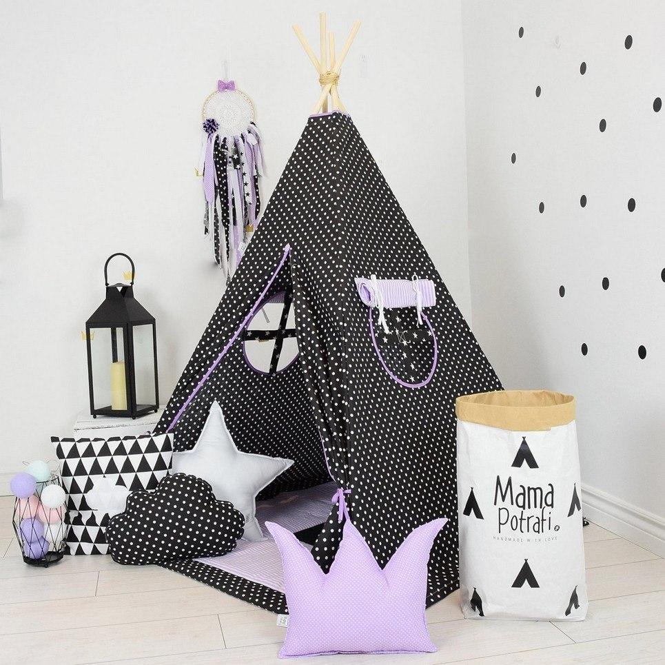 Purple Night Children's Teepee Set