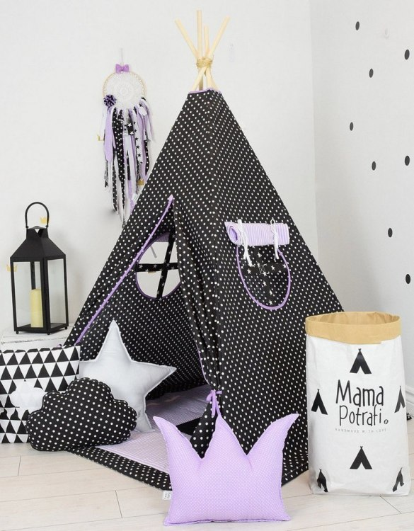 A perfect hideaway for tiny people, the Purple Night Children's Teepee Set gives your little one the space they need to let their imagination flow.