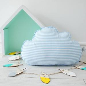 A perfect way to add a touch of magic to a bedroom or nursery, the Small Cloud Turquoise Decorative Pillow would make a wonderful gift for a new baby girl, christening, or naming day and would be the perfect finishing touch for a child's nursery or bedroom.