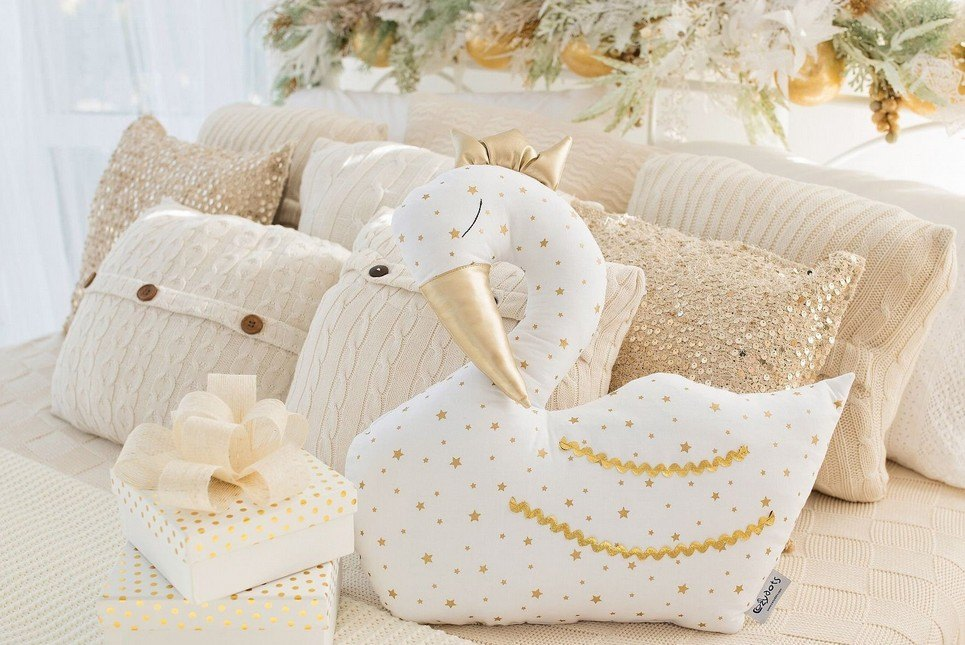 White Swan Baby Cushion