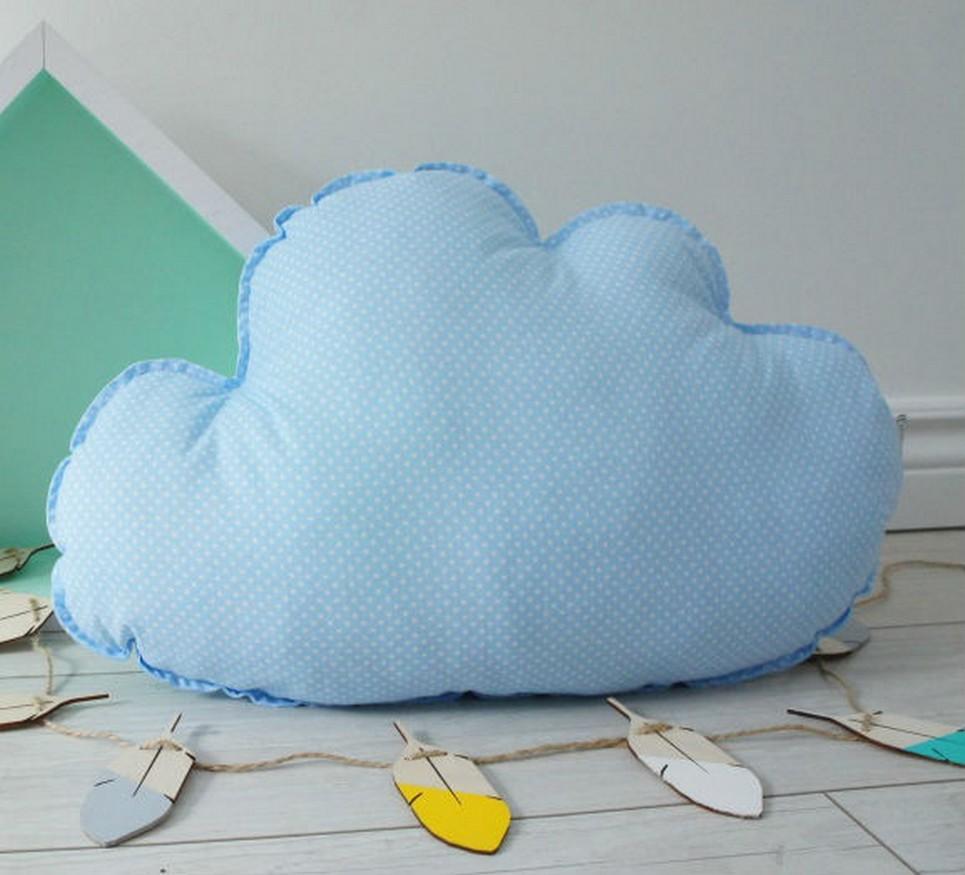 Big Blue Cloud Decorative Pillow – 2