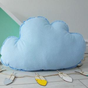 A perfect way to add a touch of magic to a bedroom or nursery, the Big Blue Cloud Decorative Pillow would make a wonderful gift for a new baby girl, christening, or naming day and would be the perfect finishing touch for a child's nursery or bedroom.
