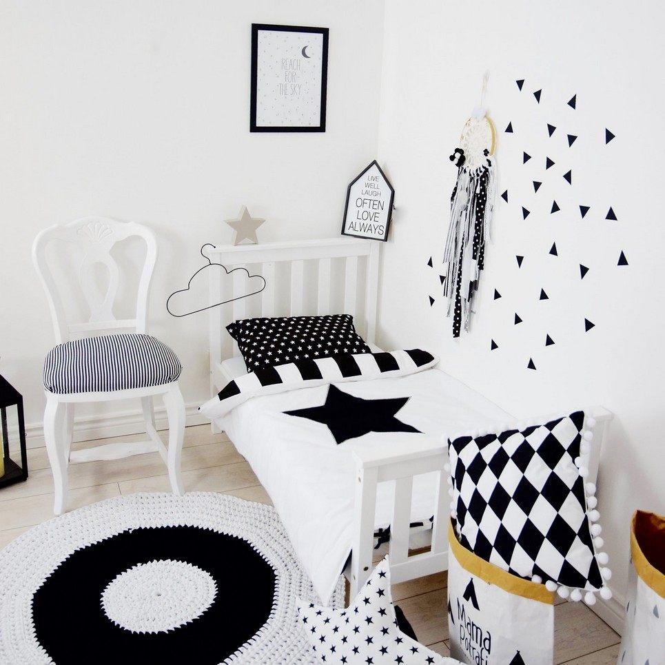 Black and White Days Baby Crib Bedding Set
